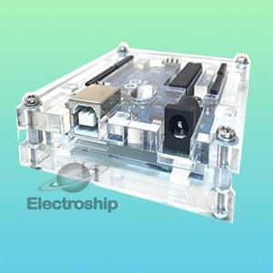 Case Gabinete Arduino Uno R3 Acrílico Transparente Calidad