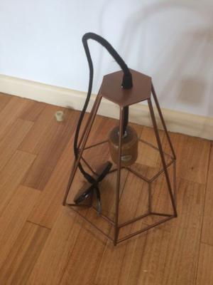 Lámpara colgante de techo Cobre - Nueva sin uso.