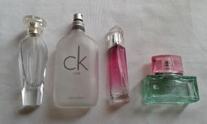 Lote de 4 frascos vacios de perfumes originales
