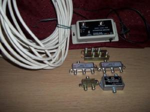 Splitters cable coaxil y amplificador de señal de cable