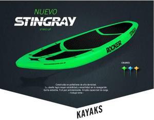 Tabla Stingray Stand Up Rocker Kayak + Remo