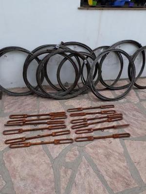 cables de acero 16 mm y tensores