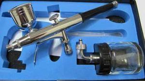 Aerografo Doble Accion Dual Copa Frasco punta 0.3mm