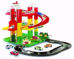 Estación De Servicio Duravit 2 Pisos Garage Pista De Autos