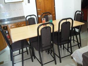Mesa de 1.60 y 6 sillas reofrzadas !! Envío gratis !! ♥
