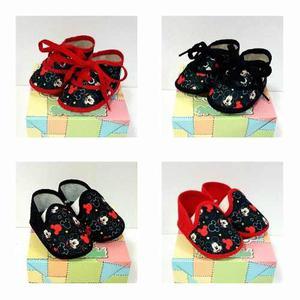 Promo Zapatillas + Panchas Mickey Bebé Zapatos No
