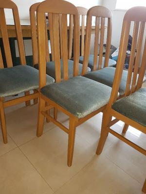 seis sillas de madera