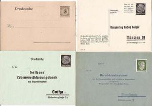 Alemania Cuatro Postkarte Franqueadas Nuevas Sin Usar - 167