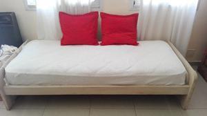 Cama 1 Plaza con Colchón de Resortes
