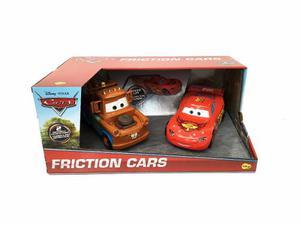 Cars Rayo Mcqueen Y Mate A Friccion Con Licencia Disney
