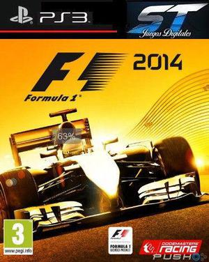 JUEGO FORMULA 1 2014 - PS3