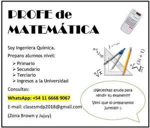 Profesora particular de Matemática