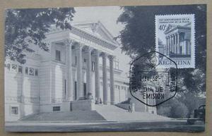 Tarjeta Postal Museo De La Plata Sello Y Matasello