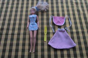 Barbie con vestido floreado, original Mattel!!, 1966!!!,