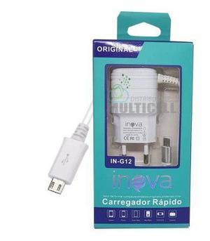 Cargador Rápido 3a Cable Micro Usb + 2 Usb Carga Rápida
