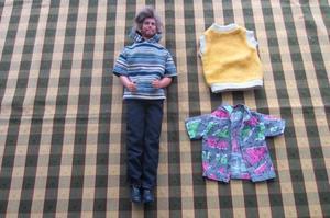 Ken con pelo y barba, original Mattel!!!, 1968!, impecable