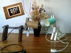Lampara escritorio estilo PERRO pantalla lata