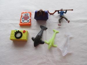 Lote de 5 juguetes variados de Burguer King y Mac Donald's,