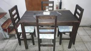 Mesa mas 4 sillas con envio sin costo!!