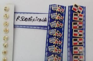 PINS REPUBLICA DOMINICANA 2 MODELOS DE 2 CMS
