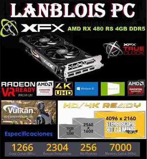 Placa Video Xfx Rx480 4gb Ddr5 Gamer