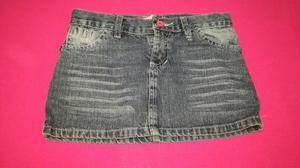 Pollera de jeans para nena