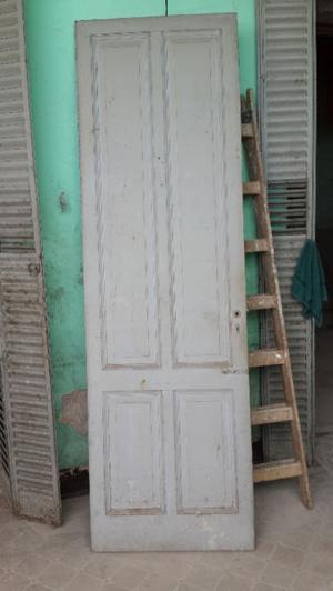 Puerta de madera una sola hoja con marco