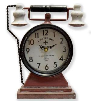 Reloj De Pies, Formato Teléfono Antiguo, A Pila.