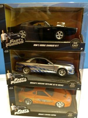 Rápido y furioso -Dodge Charger Toretto, SUPRA y Skyline de