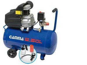 compresor de aire gamma 24 litros 2 hp con kit aire