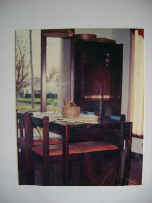 juego de comedor mesa y sillas $6900.-