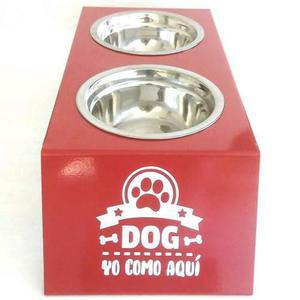 Comedero Doble Con Pie Para Perros Small + Ver Envíos