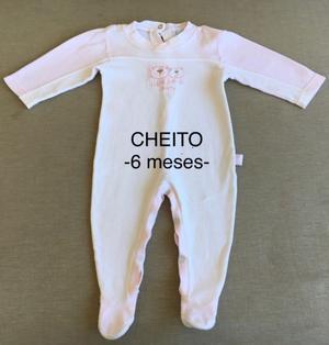 Lote Nena (Talle 6 meses) CHEITOS - 3 Enteritos Manga y