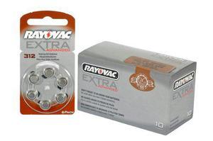 Pilas Audifono Rayovac 312 Extra Advanced X 60unid.