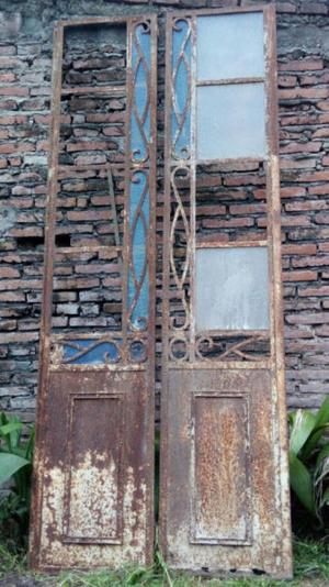 Puerta de frente antigua de hierro posot class for Puertas dobles antiguas
