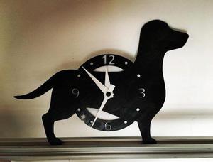 Reloj Con Forma De Perro Salchicha Impreso En 3d