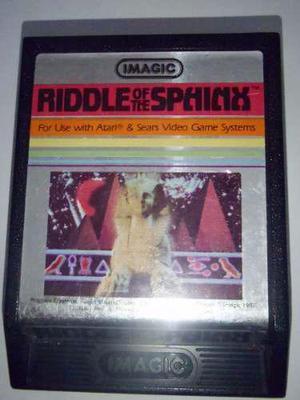 Riddle Of The Sphinx Juego Atari 2600 Rarity 2 Funcionando