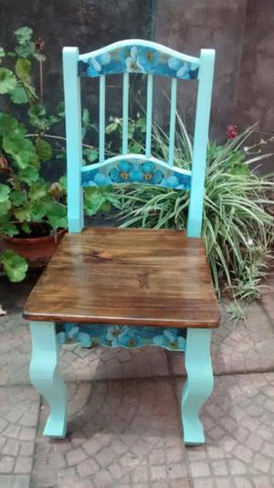 silla provenzal de madera