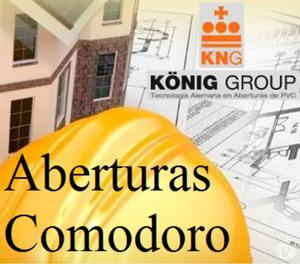 Aberturas Comodoro, puertas y ventanas en PVC y Aluminio.