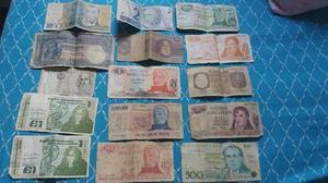 Billetes antiguos argentinos y extranjeros