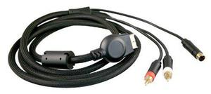 Cable Reforzado Playstation 2 A 2 Rca Svideo 1.8 Mts E9070