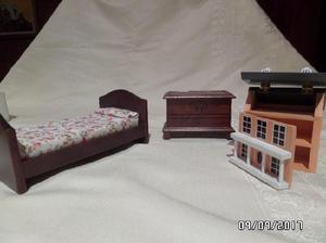 Muebles Para Casa De Muñecas: Dormitorio Para Niños