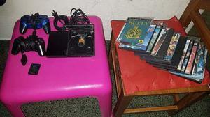 Playstation 2 Chipeada + 2 Joysticks + Memory 64mb + Juegos