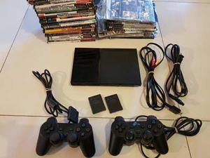 Playstation 2 Usada, 2 Joysticks 2 Memori Card 60 Juegos