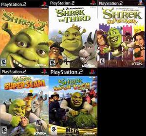 ps2] Colección Shrek (5 Juegos) Para Playstation 2