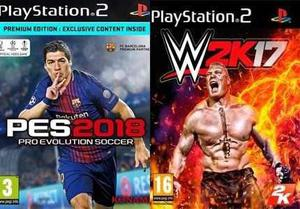 ps2] Pes 2018 + Wwe 2k17 Para Playstation 2