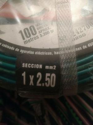 Cable 1x2,5 x100 metro