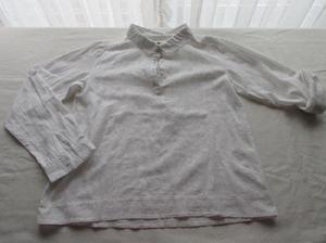Camisa de tela de algodón con broderí en relieve, para