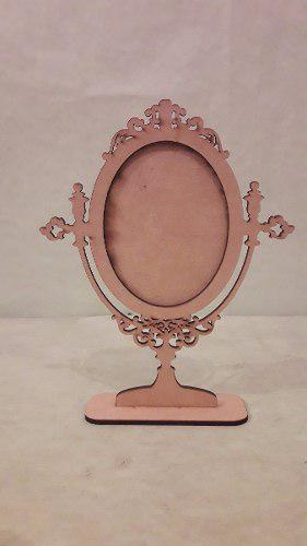 Espejo De Mesa Vintage Modelo N°1 Fibrofacil Corte Laser