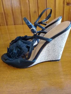 Sandalias Zapatos Via Uno De Cuero Talle 36